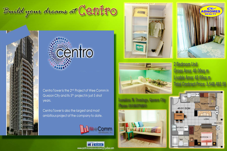 Premium 2 Bedroom Condominium in Quezon City