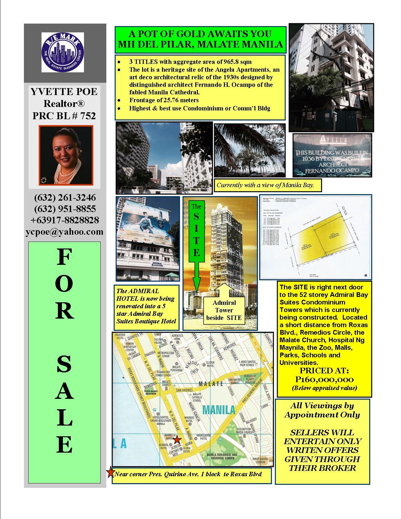 FOR SALE: Lot / Land / Farm Manila Metropolitan Area > Manila