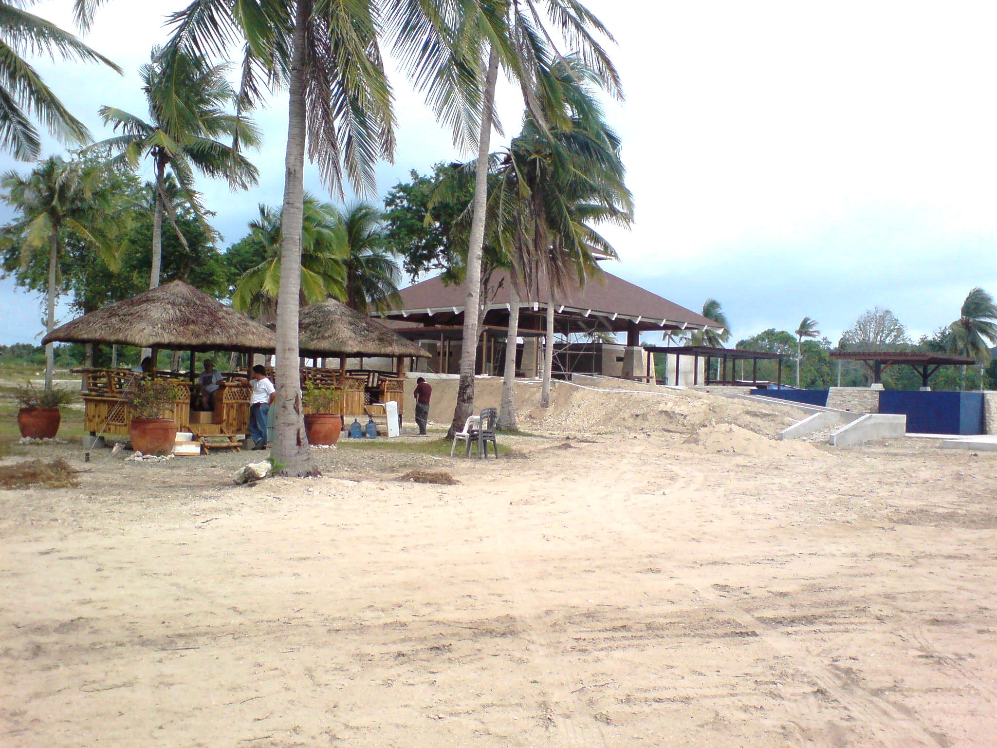 The Beach Club with nipa huts