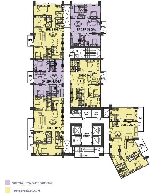 Lazuli - Penthouse - 35th Floor Plan