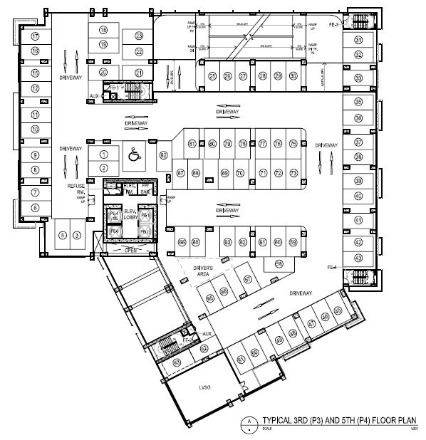 Lazuli - Typical 3rd (P3) Floor Plan - 5th (P4) Floor Plan