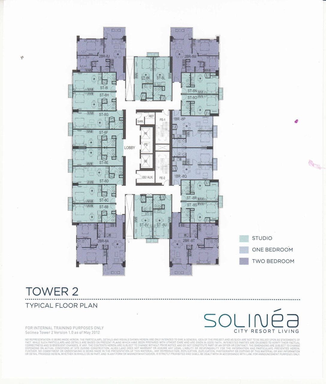 Solinea Tower 2 - Typical Floor Plan