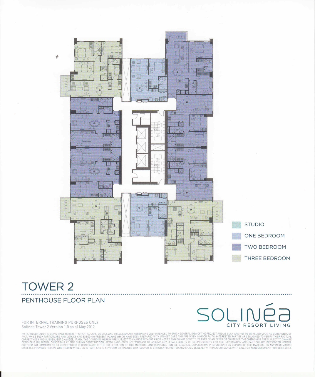 Solinea Tower 2 - Penthouse Floor Plan