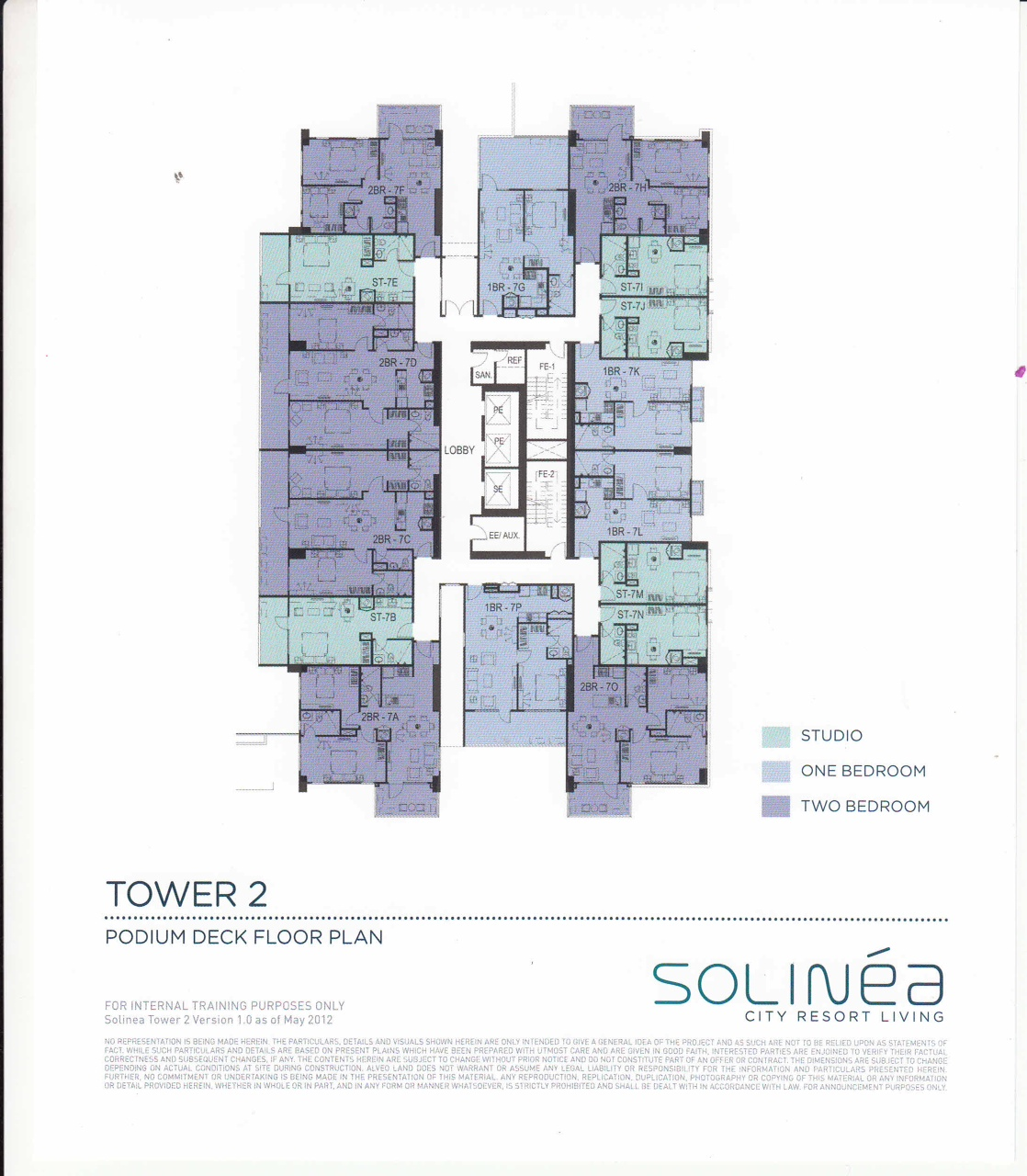 Solinea Tower 2 - Podium Deck Floor Plan