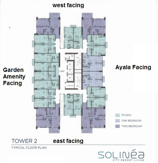 Solinea Tower 2 - Facing Amenities Floor Plan