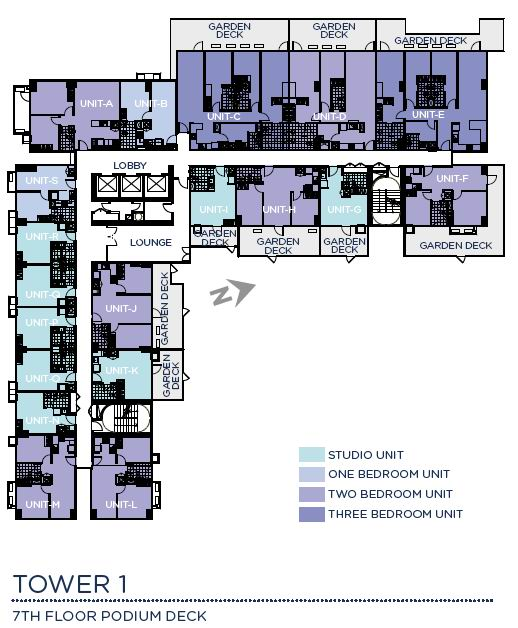 Solinea Tower 1 - 7th Podium Deck Floor Plan