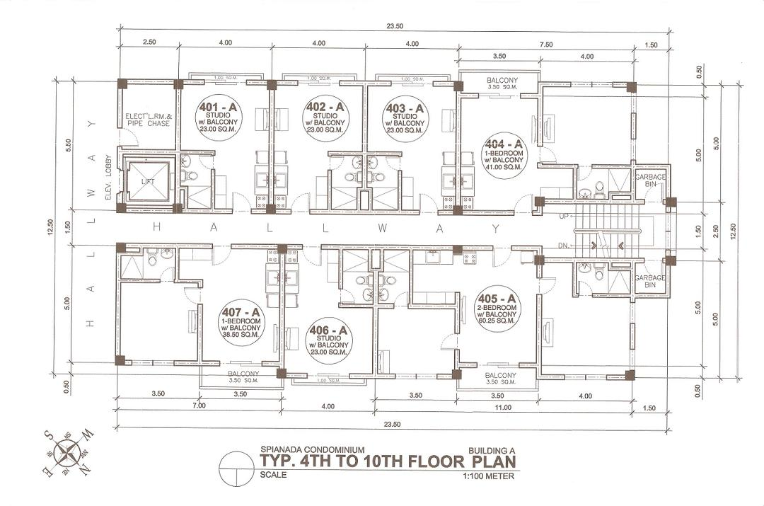 Building A 4th-10th Floor Plan