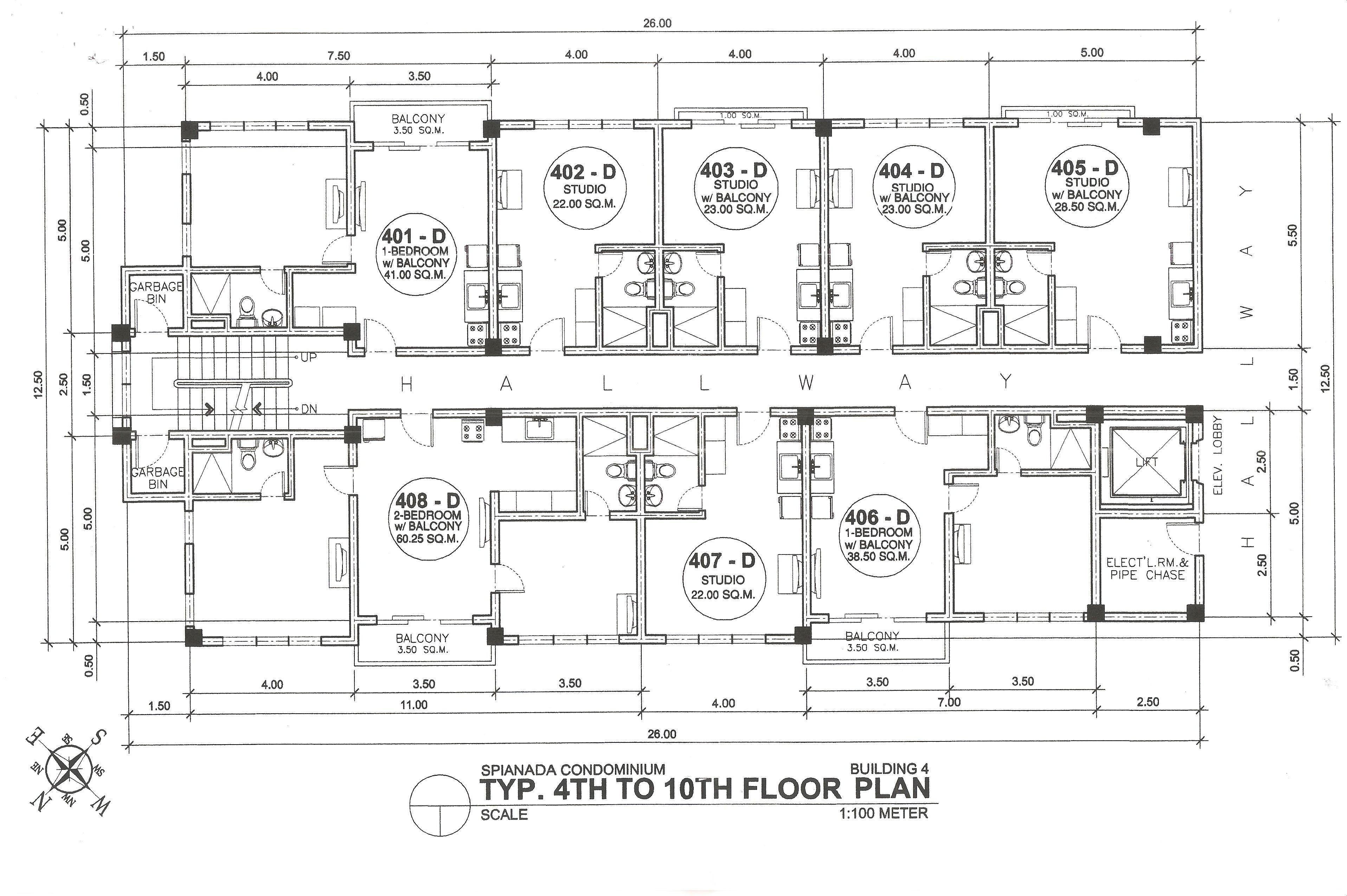 Building D 4th-10th Floor Plan
