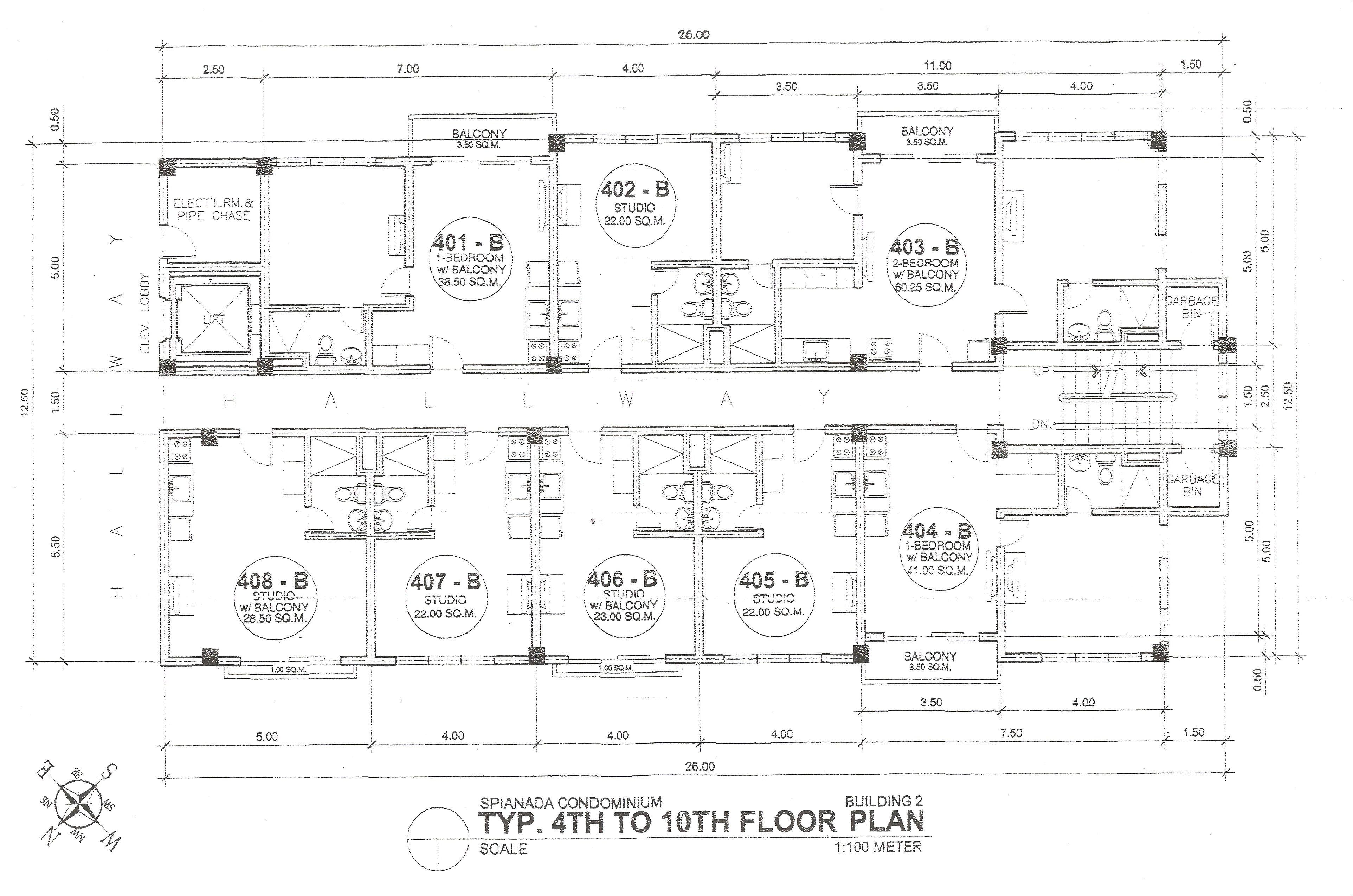 Building B 4th-10th Floor Plan