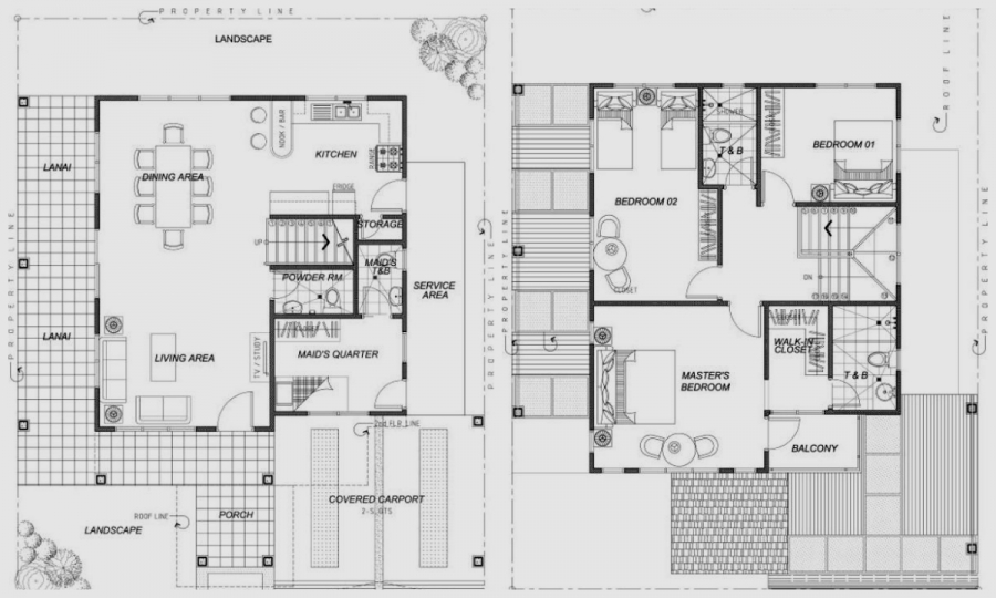 Mahogany Ground Floor & 2nd Floor Plan