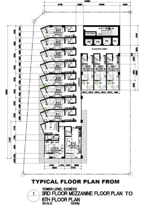 Typical 3rd - 6th Floor Plan