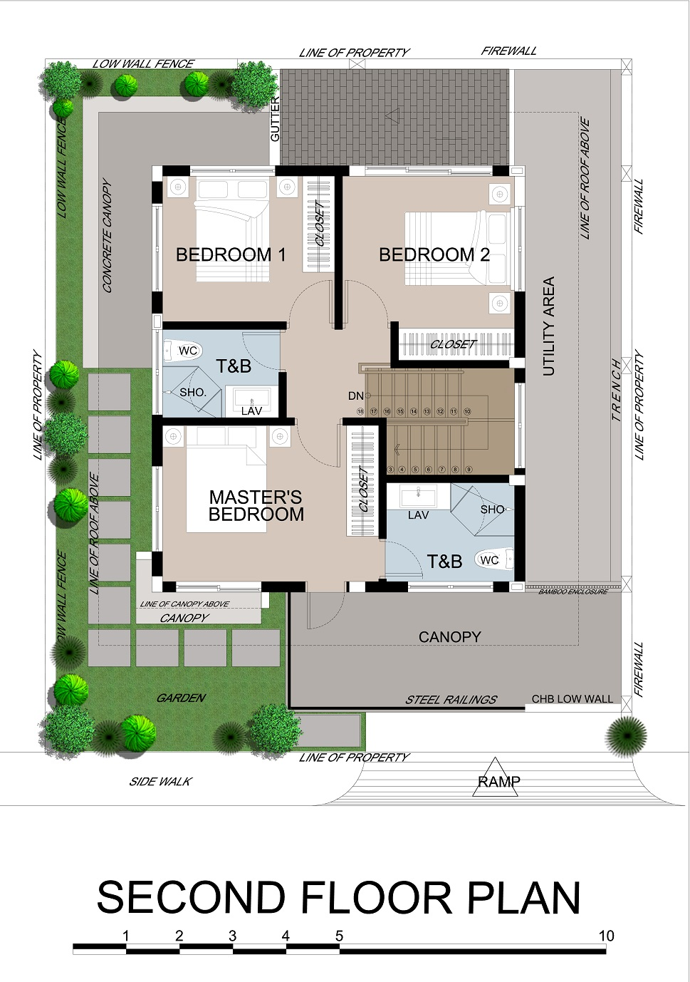 Priya 2nd Floor Plan (Option 1)