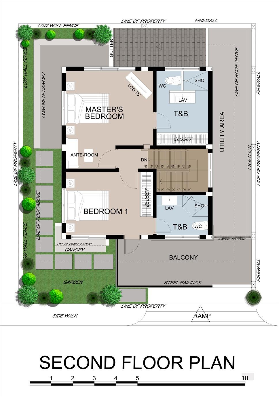 Priya 2nd Floor Plan (Option 2)