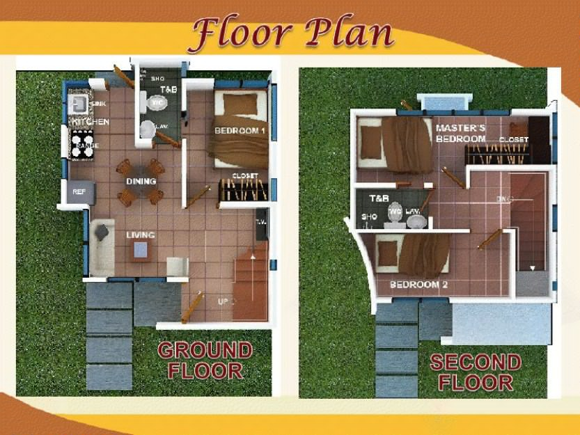 Malcolm Ground Floor & 2nd Floor Plan