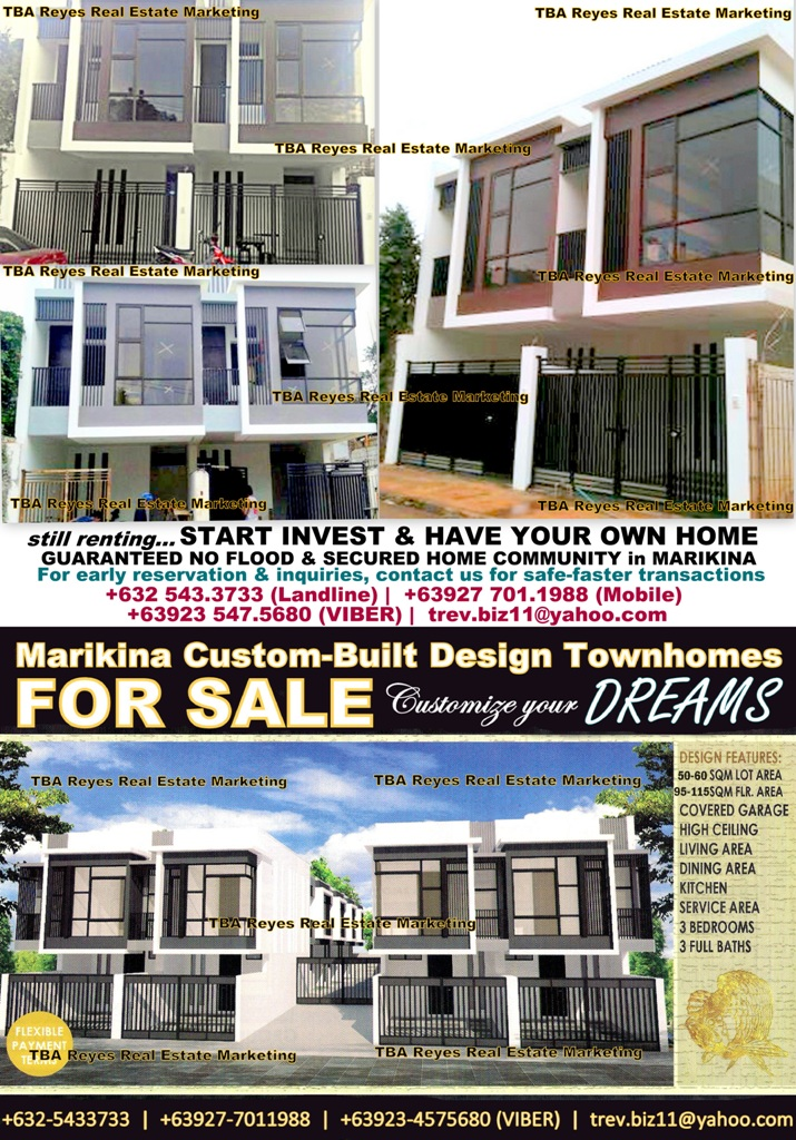 CUSTOM BUILT TOWNHOMES in MARIKINA HEIGHTS, MARIKINA CITY