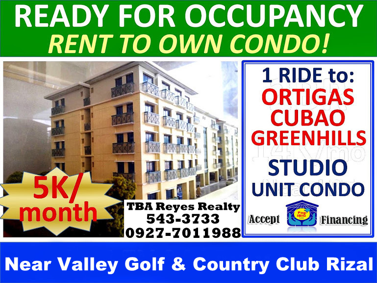 RFO Condo Units in High Elevated area of Cainta along Ortigas Extension ★ ABSOLUTELY FLOOD-FREE, PAG-IBIG Financing ACCEPTED! - Rent To Own Scheme ★ RESERVE NOW! Few remaining units available.