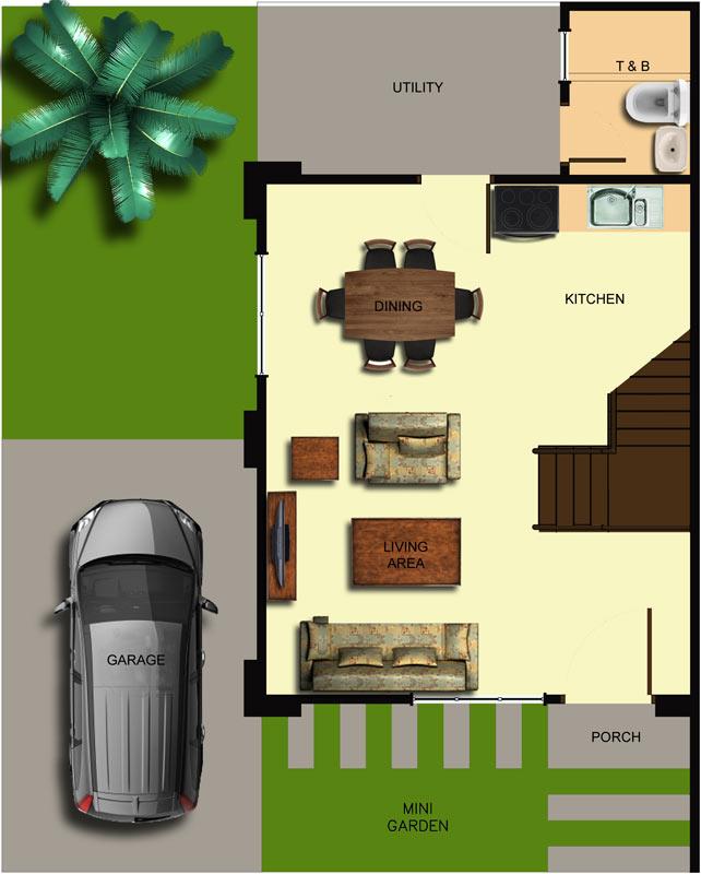 Duplex Ground Floor Plan