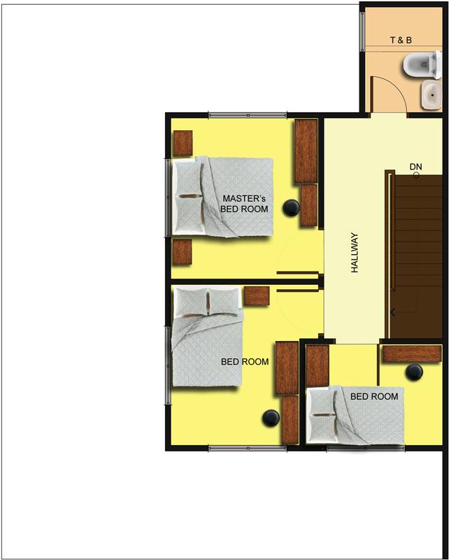 Duplex 2nd Floor Plan