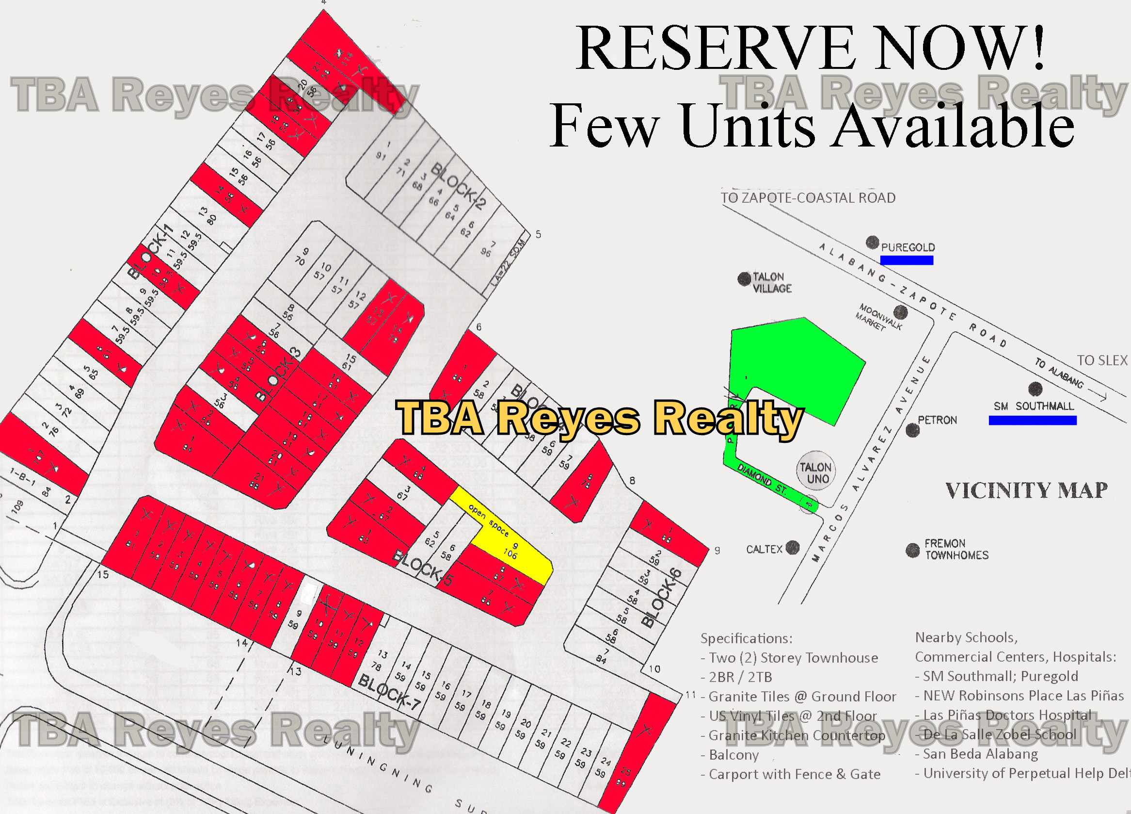 LAS PIÑAS New Townhouses Near SM Southmall