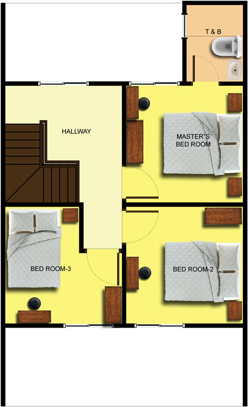 Townhouse 2nd Floor Plan