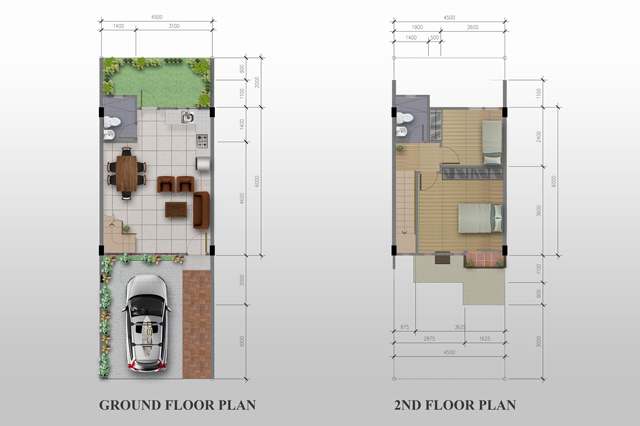 Ground Floor & 2nd Floor Plan