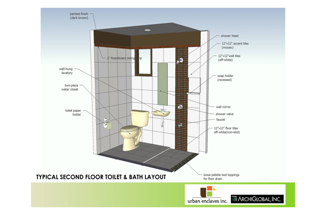 Typical 2nd Floor Toilet & bath Layout