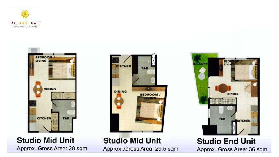 Studio Mid Unit Floor Plan
