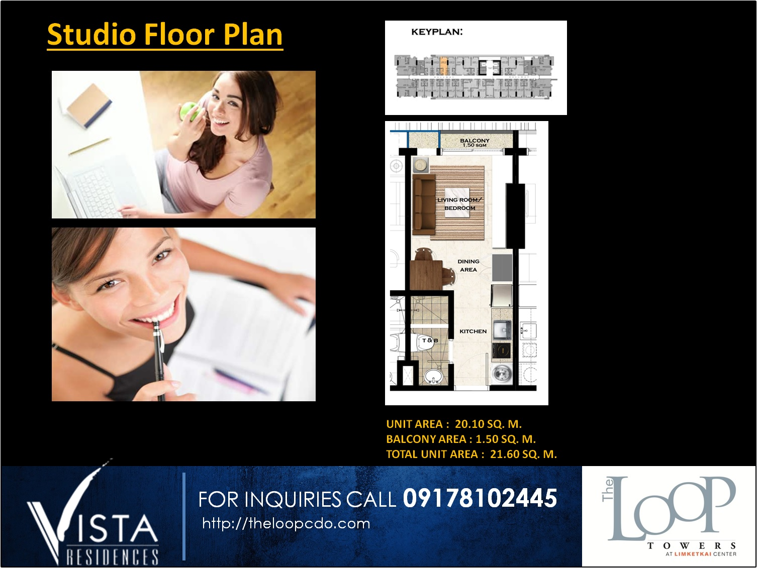 Studion Unit floor layout