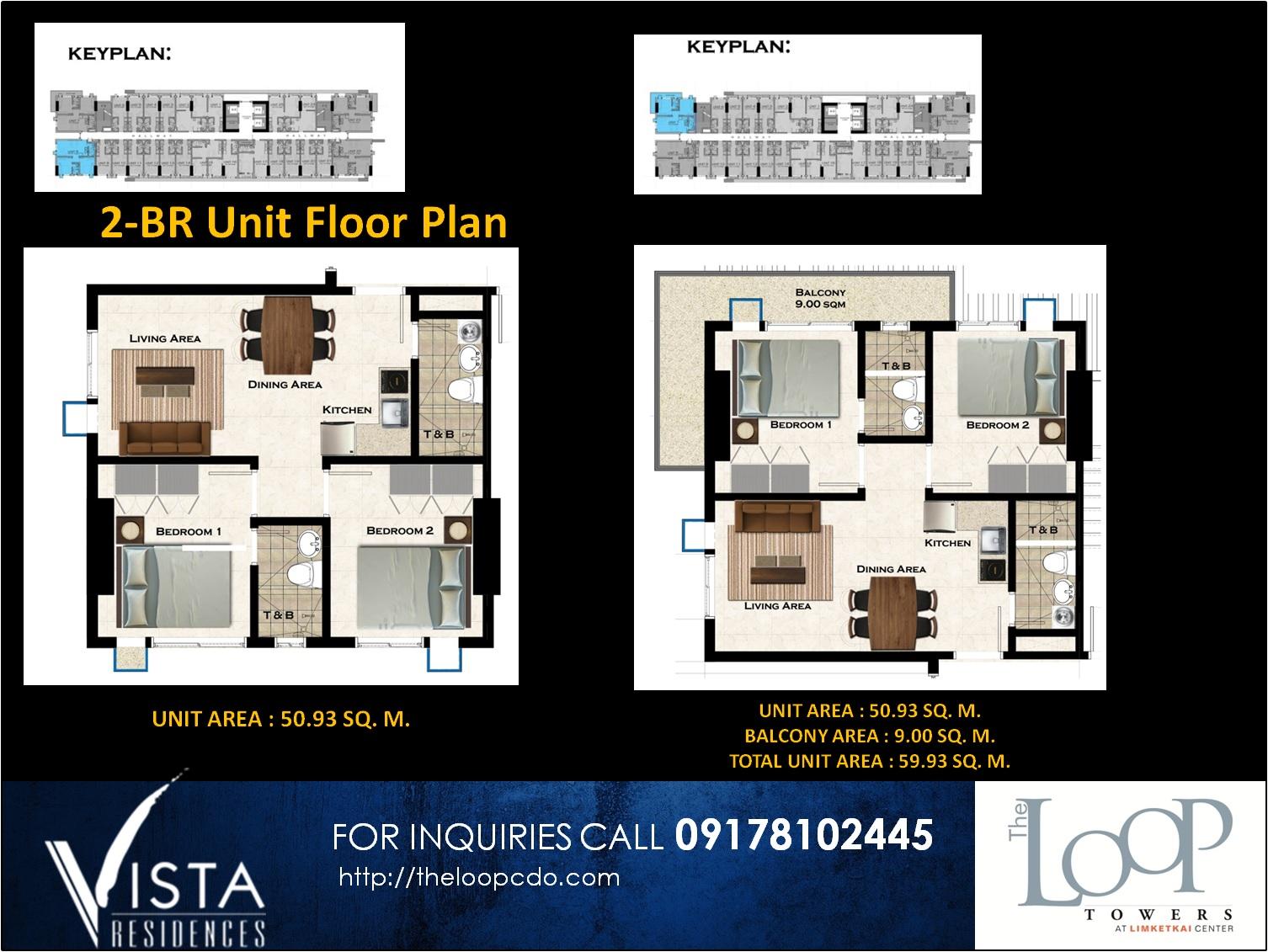 2br floor layout