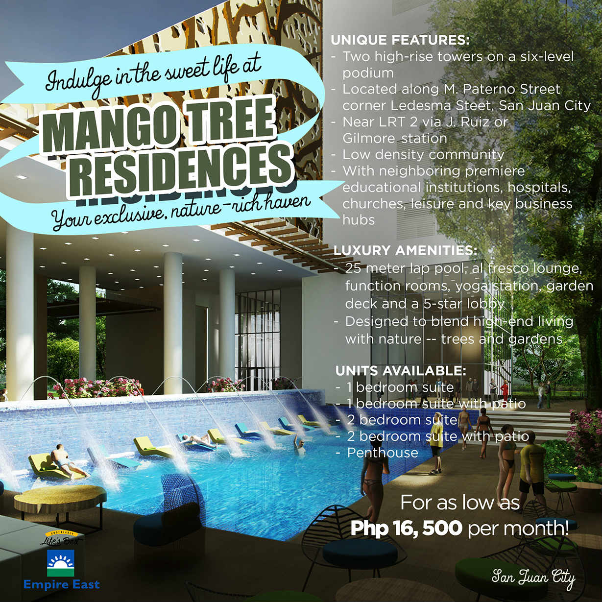 Condominium in sanjuan for as low as 12k monthly No down payment