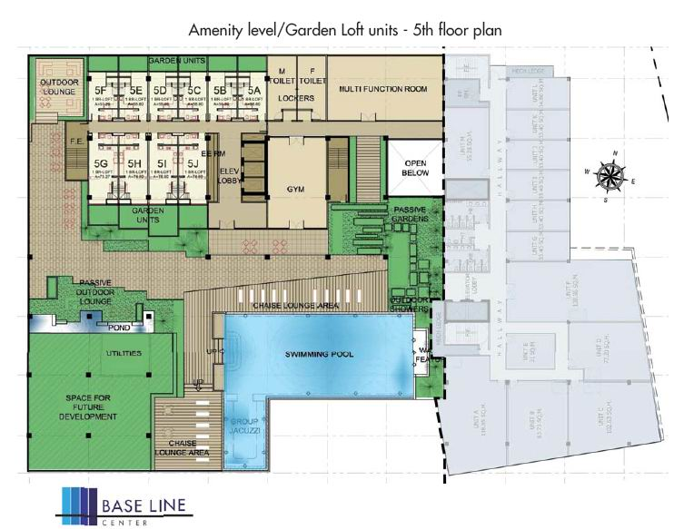 Amenity Level or Garden Loft units - 5th Floor