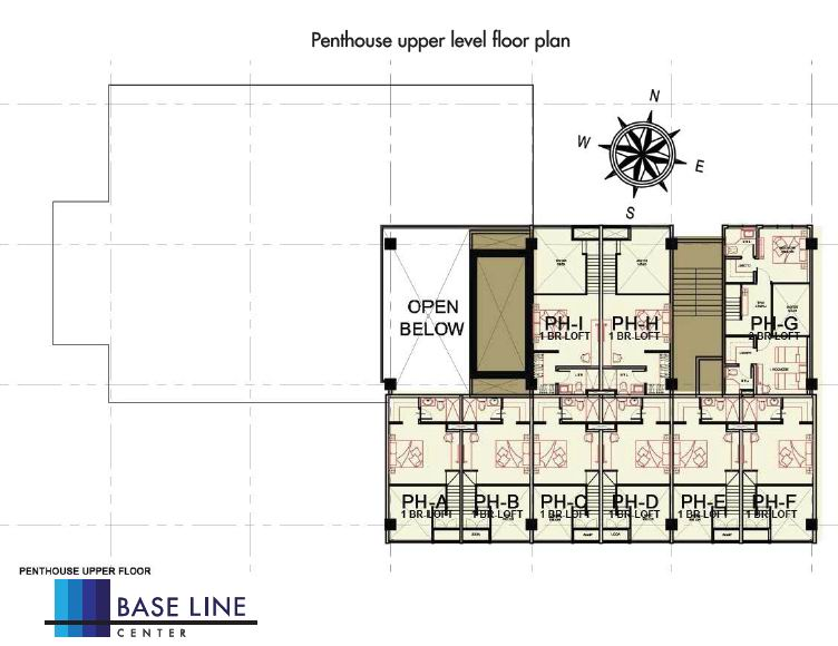 Penthouse Upper Level Floor Plan