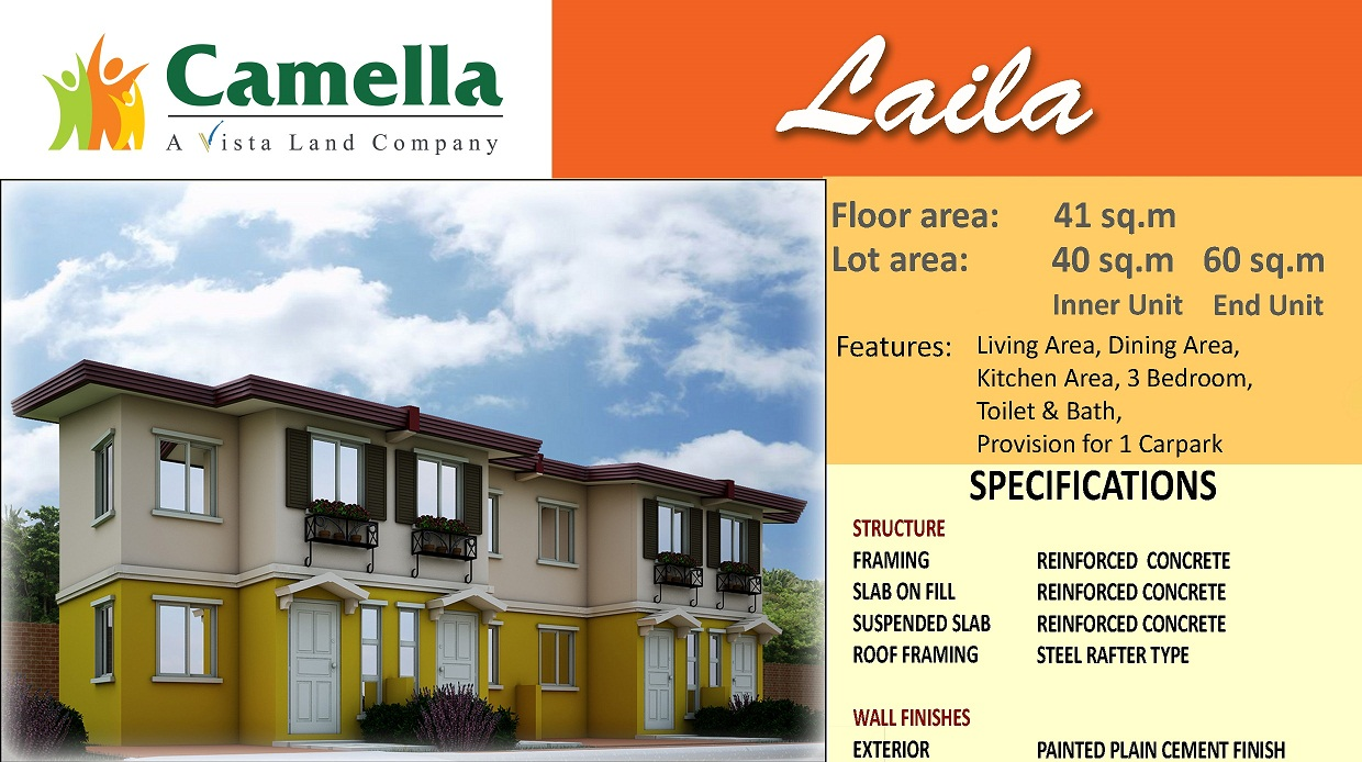 LA BRISA TOWNHOUSES IN CAMELLA LAPU-LAPU CITY Apartment / Condo / Townhouse FOR SALE: