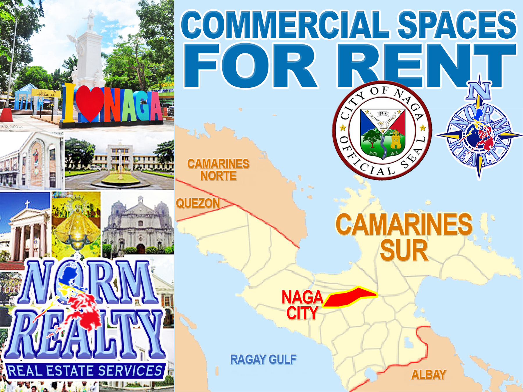 FOR RENT / LEASE: Office / Commercial / Industrial Camarines Sur > Naga City