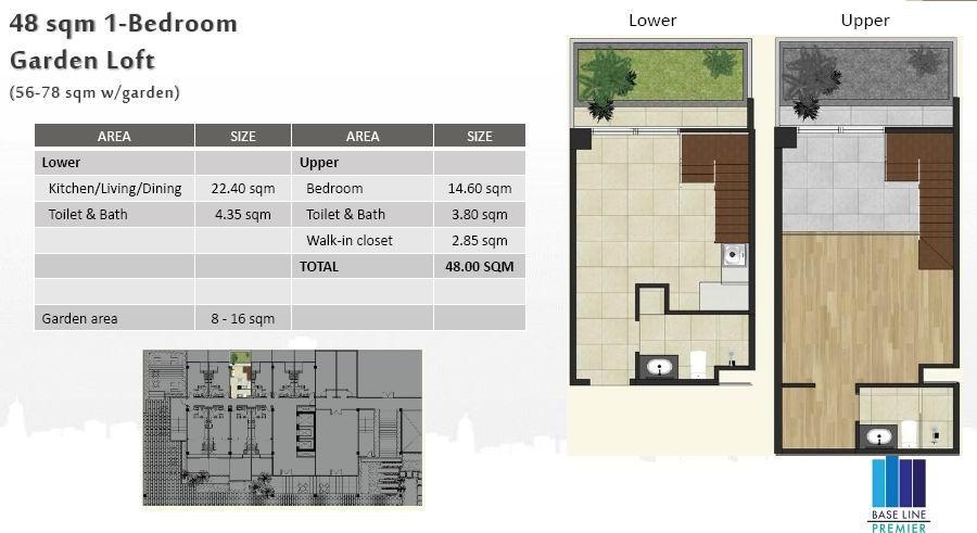 1BR Garden Loft