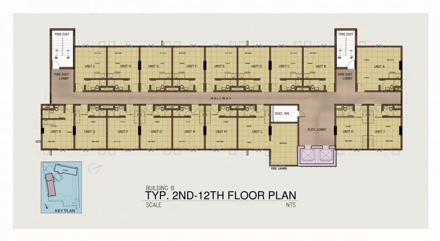 Tower 2 - 2nd Floor to 12th Floor Plan