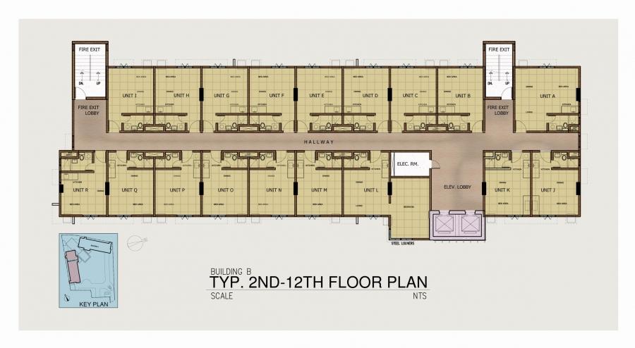 Tower 2 - 2nd Floor to 12th Floor Plan