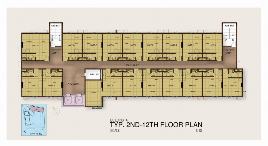 Tower 1 - 2nd Floor to 12th Floor Plan