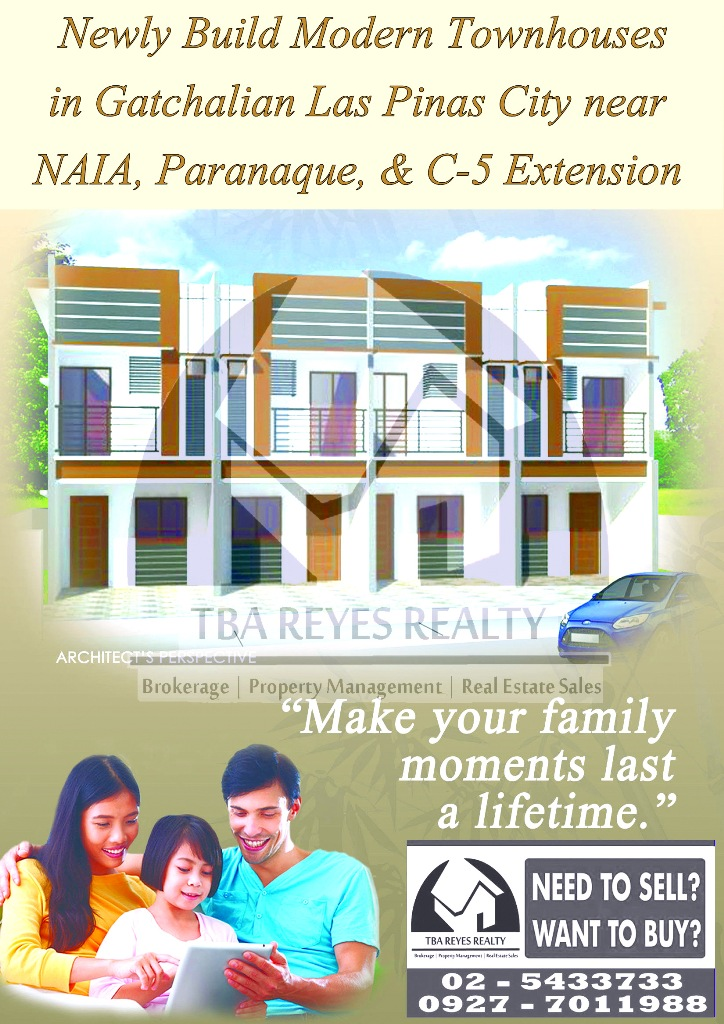 NEW HOUSE AND LOT / TOWNHOUSES IN LAS PINAS NEAR PARANAQUE, NAIA and ALABANG-ZAPOTE