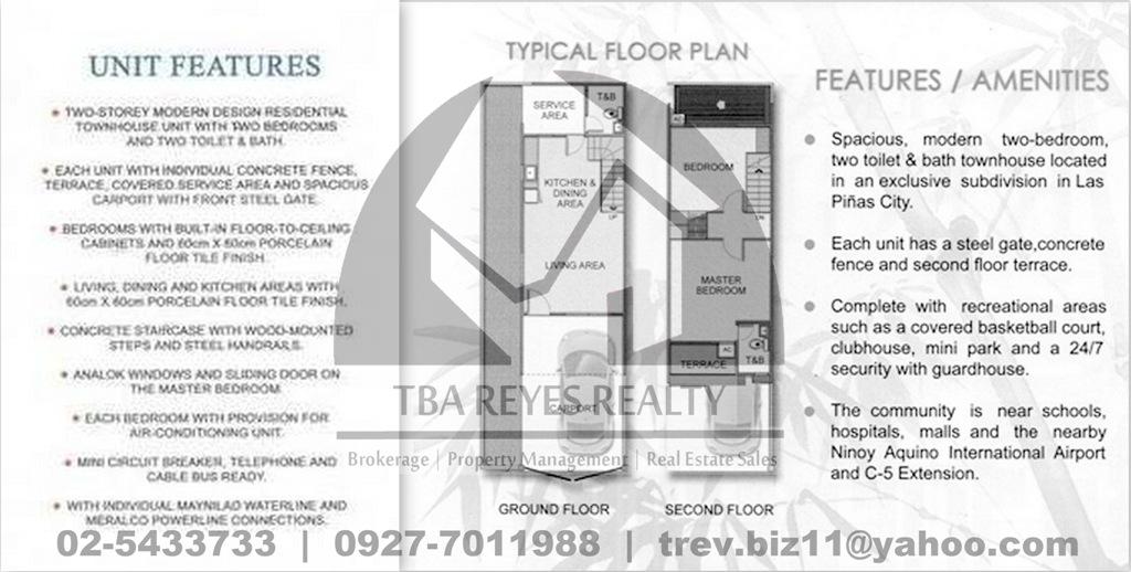 NEW HOUSE AND LOT / TOWNHOUSES IN LAS PINAS NEAR PARANAQUE, NAIA and ALABANG-ZAPOTE
