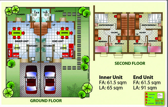 Leia Duplex House Floor Plan