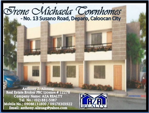 FOR SALE: Apartment / Condo / Townhouse Manila Metropolitan Area > Caloocan