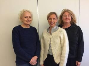 Barnmorskeförbundets konferensgrupp njf2016 Kajsa Westlund, Marianne Weichselbraun och Eva Nordlund