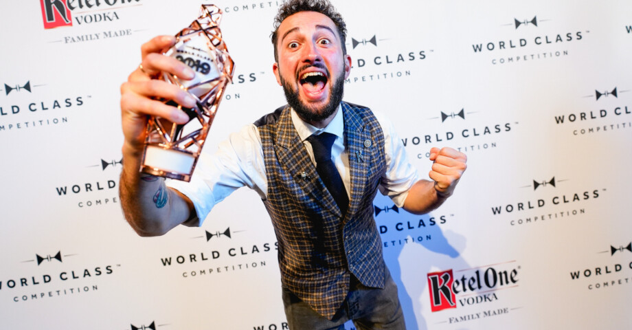 James Chaib best Dutch bartender 2019 during the World Class Competition