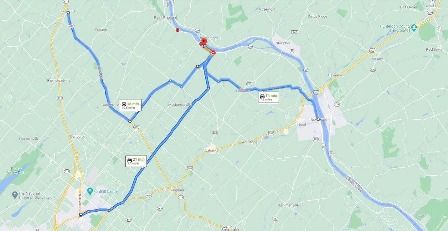 Ida River Road Closure Update Map