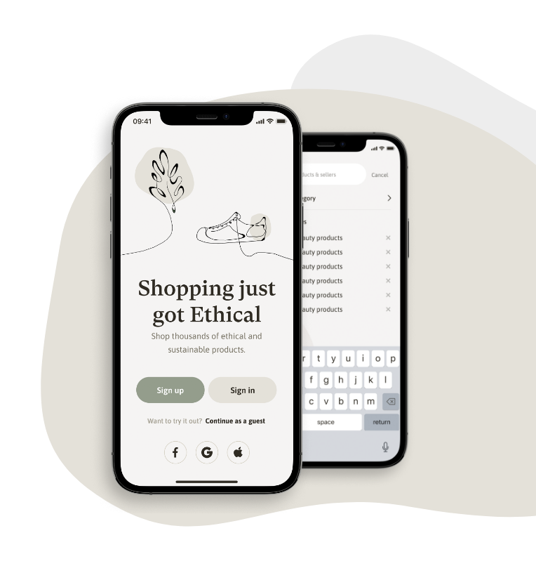 Buy, sell and chat using the GoEthical marketplace APP