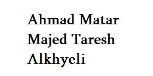 Ahmad Matar Majed Taresh Alkhyeli