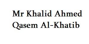 Mr Khalid Ahmed Qasem Al-Khatib