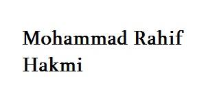 Mohammad Rahif Hakmi
