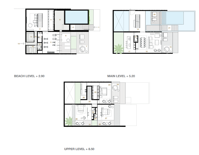 Planning of the apartment Villas 3BR, 6068.91 in Switzerland Island, Dubai